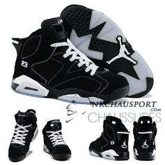 timeless design 82e44 a5f62 Nike Air Jordan 6   Classique Chaussure De Basket Homme Noir-9 Chaussures  Air Jordan