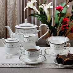 Noritake Corinth Beverage Set of 17 - FabFurnish.com