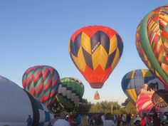 Casper Balloon Roundup: 2015:  Each balloon had designated lift off number; up up and away!