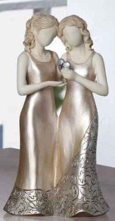 Gay Lesbian Wedding Cake Topper - I love!!! Darn no dress for TJay but still...