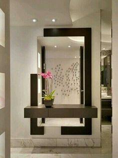 Home Entrance Decor, Entryway Decor, Wall Decor, Living Room Designs, Living Room Decor, Living Rooms, Flur Design, Dressing Table Design, Room Partition Designs