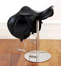 saddle stool, maybe I could make one of theses! I bet my girls would love this!