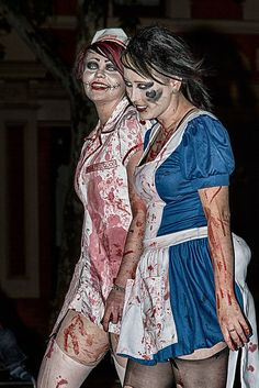 zombie nurse and patient fresh from the insane asylum -035 by runmonty, via Flickr