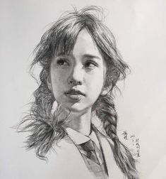 Cool Art Drawings, Pencil Art Drawings, Realistic Drawings, Art Drawings Sketches, Beautiful Drawings, Pencil Portrait Drawing, Portrait Sketches, Portrait Art, Life Drawing