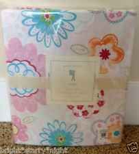 POTTERY BARN KIDS AVERY TWIN SHEET SET NEW FLORAL BIRDS FLOWERS GIRLS ROOM PINK