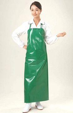 Plastic Aprons, Pvc Apron, Beautiful Nurse, Latex Fashion, Rain Wear, Pjs, Asian Beauty, Mantel, Work Wear