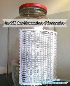 Make a savings schedule, and have it printed on the outside of the jar