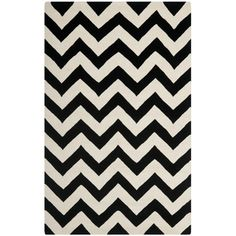@Overstock - A contemporary chevron design and dense, thick pile highlight this handmade rug inspired by Moroccan patterns with today's updated colors. This floor rug has a black background and displays stunning panel colors of ivory.http://www.overstock.com/Home-Garden/Handmade-Chevron-Black-Ivory-Wool-Rug-8-x-10/7278139/product.html?CID=214117 $464.99