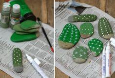 Hoy manualidades aprender a hacer te trae esta idea de como hacer unos hermosos cactus con piedras no hay que regarlos y quedan muy decorativos.