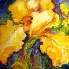 """Yellow Iris"" par Marcia Baldwin"