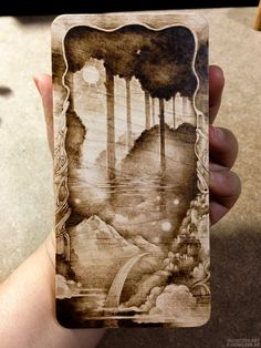 hard maple pyrography, wood burning