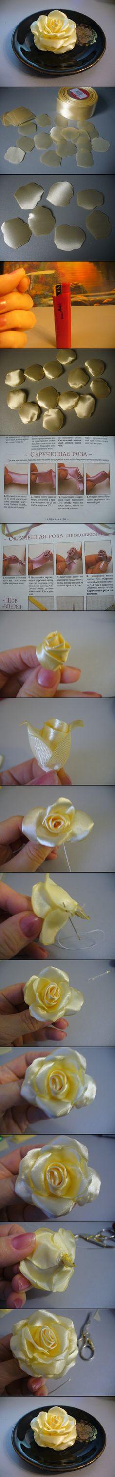New flowers diy ribbon fabric roses 49 ideas, … – Diy Flower 2020 Ribbon Art, Diy Ribbon, Fabric Ribbon, Ribbon Crafts, Flower Crafts, Ribbon Rose, Paper Ribbon, Cloth Flowers, Fabric Roses
