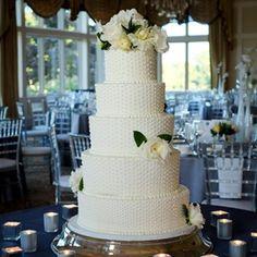 White Swiss Dot Wedding Cake. love the dots!