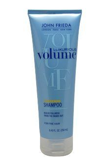Luxurious Volume Full Splendor Shampoo by John Frieda, 8.45 Ounce by John Frieda. $5.99. Anhydrous (no water), quick-drying formula contains a high hold polymer to lock in body and volume. Humidity-resistant to keep styles from flattening out. Contains just enough silicone to combat over-drying the hair. Can be used all over to thicken and hold style or spot-applied for targeted lift. Transform fine, limp hair into sexy, voluminous hair.