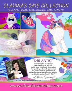 Claudia's Cats Collection Ad in RAW Magazine, December 2016 issue. Artwork by Claudia Sanchez Positive Attitude, All Art, Original Artwork, December, My Arts, Around The Worlds, Magazine, Fine Art, Cats