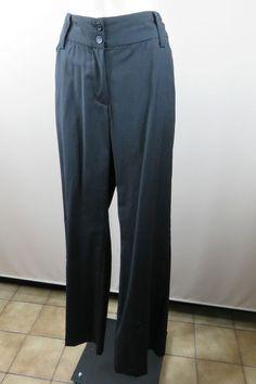 Size 12 M Laura Ashley Ladies Black Wool Dress Pants Trousers Business Work Wear