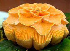 Pumpkin Carving Flower Design Ideas