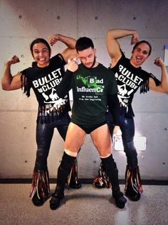 Bullet Club Members Prince Devitt & The Young Bucks Japanese Wrestling, Japan Pro Wrestling, Wrestling Stars, Wrestling Videos, Wrestling Wwe, Bullet Club Members, Balor Club, Eddie Guerrero, Kevin Owens