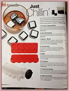"""HIC's Cocktail Ice Ball Tray featured in the """"Trends"""" section of @Hannah Nudell  Thanks for the shout-out! Learn more: http://hickitchenblog.com/2013/06/27/cocktail-ice-ball-tray-does-double-duty-makes-perfect-round-ice-cubes-and-delicious-cake-bites/ Available at: http://www.fantes.com/ice-utensils.html"""