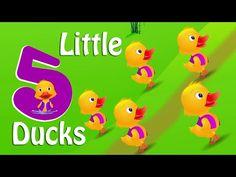 ▶ Five Little Ducks Nursery Rhyme With Lyrics - Cartoon Animation Rhymes & Songs for Children - YouTube