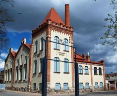 The Tatran Art Gallery in Poprad, Slovakia. This former steam power plant building built in 1912 was saved and revitalized as an art gallery in 2009.