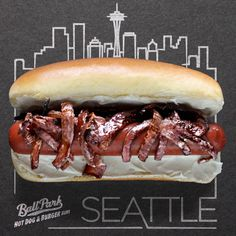 Grilled onions, cream cheese and a delicious beef frank, packed between a warm Ball Park bun. The Seattle dog is culinary nirvana! Seattle Dog, Hot Dog Recipes, Burger Buns, Sausages, Nirvana, Pulled Pork, Cheesesteak, Onions, Hot Dogs