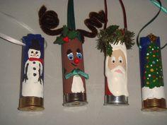 Shotgun shell ornaments!