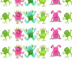 MONSTERS_2 fabric by kendrahloo on Spoonflower - custom fabric