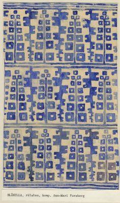 Ann-Mari Forsberg (1916 – 1992) - Design for rölakan rug Blåkulla AB Märta Måås-Fjetterström
