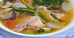 Craving for tasty sour soup that you can enjoy even as side dish for rice especially for those cold night dinners? Well, we have here sinigang na ulo ng salmon recipe for you! It is given to Filipinos that sinigang Continue reading Sinigang Na Ulo Ng Salmon (Salmon Fish Head In Sour Soup) Recipe→