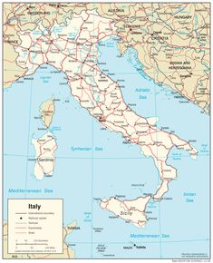 map of italy - Free Large Images