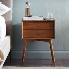 Shop mid century nightstand from west elm. Find a wide selection of furniture and decor options that will suit your tastes, including a variety of mid century nightstand. 60s Furniture, Classic Furniture, Bedroom Furniture, Furniture Design, Luxury Furniture, Outdoor Furniture, Furniture Online, Furniture Stores, Cheap Furniture