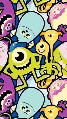 Wallpaper Iphone Cartoon Monsters Inc 41 Ideas