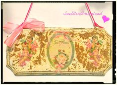 Shabby chic decoupage wall hanging/ angel design/ Dining room decor / friendship gift Fall time November finds gifts ideas Autumn trend by SueEllenDreamland on Etsy Shabby Chic Signs, Victorian Angels, Decoupage Glue, Angel Decor, Small Bouquet, Friendship Gifts, Tea Roses, Handmade Items, Handmade Gifts