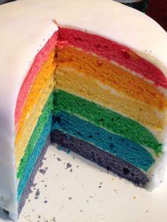 Bunte Torte Kindergeburtstag Regenbogen