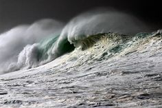 Storm Surge by Steven Gunnerson Big Waves, Ocean Waves, What A Wonderful World, Natural Beauty, Raw Beauty, Riders On The Storm, Storm Surge, Our Planet Earth, Creative Photos