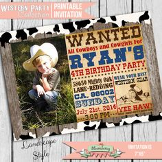 Hey, I found this really awesome Etsy listing at https://www.etsy.com/listing/183113509/western-party-invitation-cowboy-party