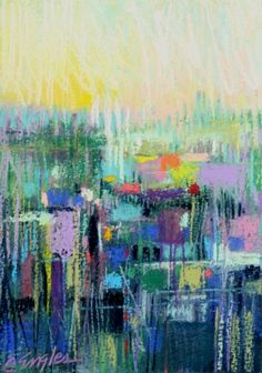 Distant Skyline Three, abstract painting by Carol Engles -- Carol Engles