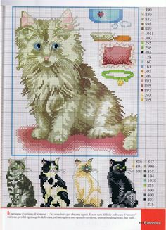 Cats cross stitch patterns