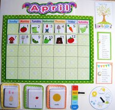 Preschool calendar with printables