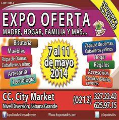 #Oferta #Regalos #diadelaMadre    Preventa!  EXPO OFERTA, Madre, Hogar, Familia y Mas 2014 * 7 al 11 de mayo del 2014 * CC City Market, #Caracas * + 58 (212) 327.2242 / + 58 (212) 625.9715 * Twitter: @Expodetalles * Facebook: ExpoDetallesForeverEventos Web: http://www.expomadre.com