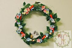 Easter Wreath Bunny Wreath Spring Wreath Front Door Wreath