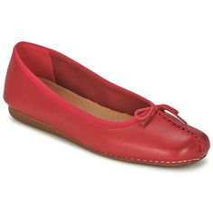1f6252cd0 Ballerinas  ClarksWomensShoes ICE Red leather - £ 35.99 Flat Wedges
