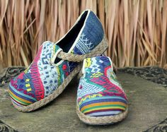 Womens Loafer In Colorful Laos Embroidery by SiameseDreamDesign,  #Shoes #womens #Boho #Vegan