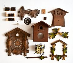 Large Lot Of Vintage Cuckoo Clock Parts Offered By Elizabeth Rosen