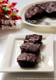 BOURBON BROWNIES - no egg no butter version Coffee Brownies, Oreo Brownies, Brownie Recipes, Cookie Recipes, Bourbon Biscuits, Eggless Recipes, Elegant Desserts, Butter Recipe, Cookies