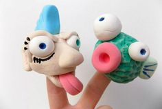 Picture of model magic finger puppets sculpture projects, ceramics pro Sculpture Projects, Sculpture Clay, Clay Projects, Sculpture Lessons, Sculpture Ideas, Ceramics Projects, Ceramic Sculptures, Clay Crafts For Kids, Model Magic