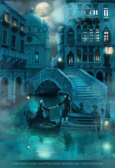 Venice Moon by Foxfires.deviantart.com on @deviantART