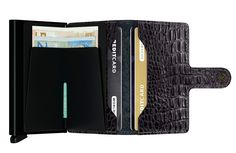 Cartera & Tarjetero SECRID ® Mini Wallet Aligator Negro ✶ Nile