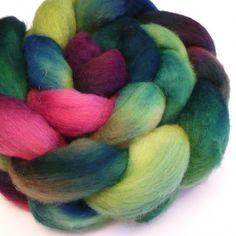 SALE Merino Top  Hibiscus  4 oz by dyetyarns on Etsy, $14.00